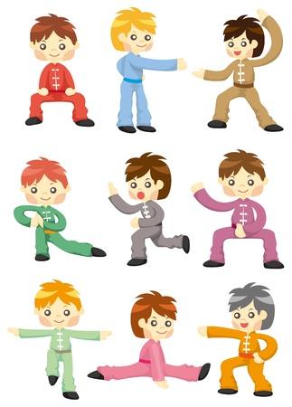 chi: cartoon chinese Kung fu icon