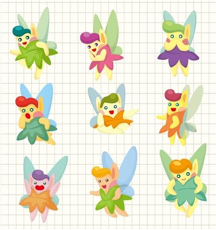 cartoon little baby fairy icon Stock Vector - 9222363