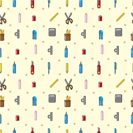 stationery: seamless stationery pattern  Illustration
