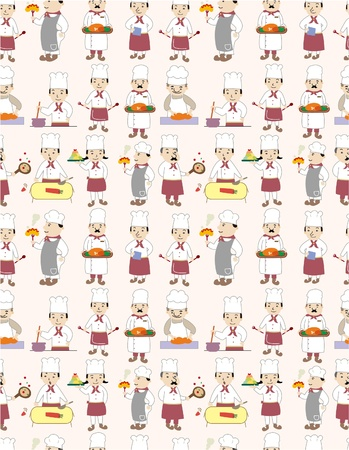 seamless chef pattern  Stock Vector - 9222383