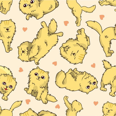 seamless cat pattern  Stock Vector - 9222366