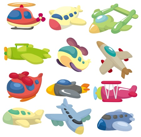 glide: cartoon airplane  icon