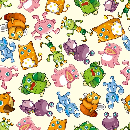 pattern monster: seamless monster pattern