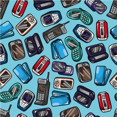 seamless mobile phone pattern Stock Vector - 9221322