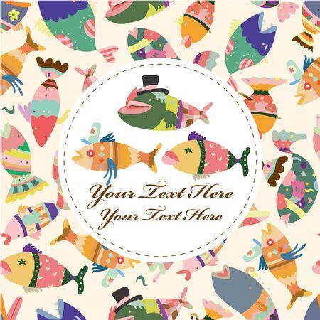 cartoon fish card Stock Vector - 9221321