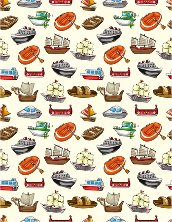 seamless boat pattern Stock Vector - 9253787