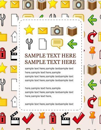 web icon card Stock Vector - 9253790