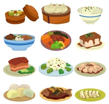 chinesisch essen: Cartoon chinesisches Essen Symbol