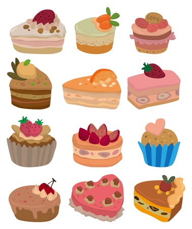 cartoon cake icon Stock Vector - 9297117