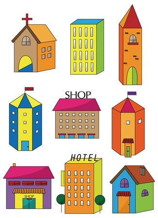 colourful candy: cartoon house icon  Illustration