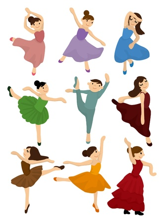 cartoon Ballet icon  Stock Vector - 9297116