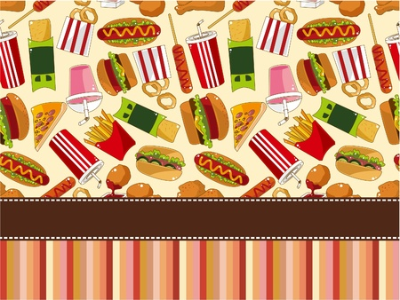 Tarjeta de comida rápida  Foto de archivo - 9297122