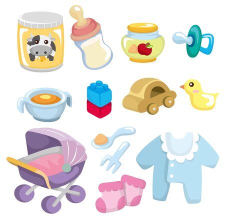 cartoon baby goods  icon Stock Vector - 9297125