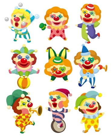 carnival costume: cartoon clown icon
