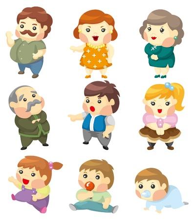 Icono de familia de dibujos animados  Foto de archivo - 9312148
