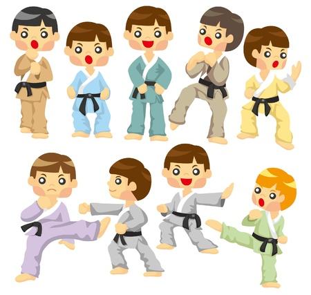 cartoon Karate Player icon Stock Vector - 9312147