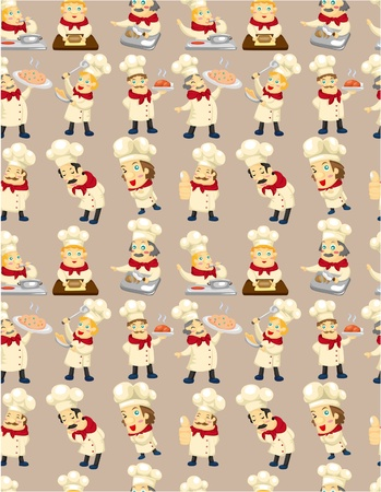 seamless chef pattern  Vector