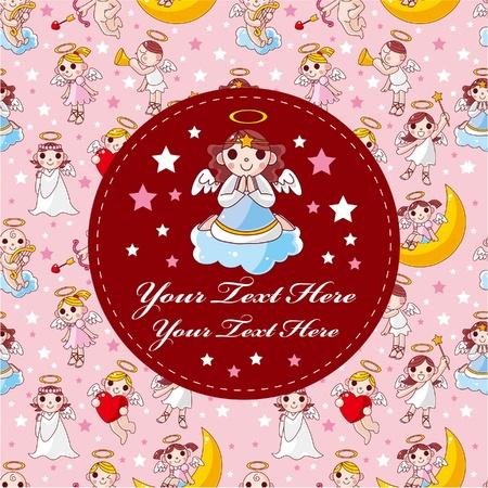 moon angels: cartoon angel card