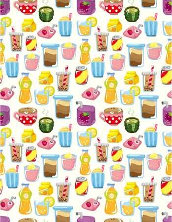 seamless drink pattern  Vector