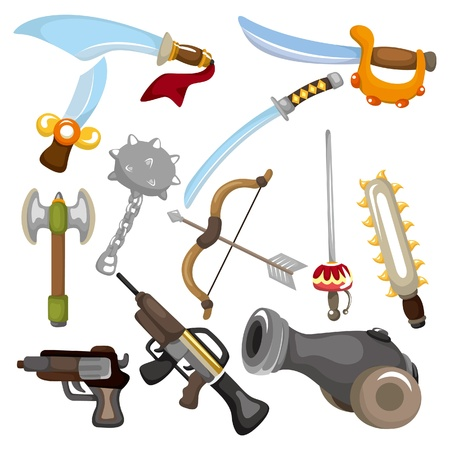 cartoon Weapon icon  Vector