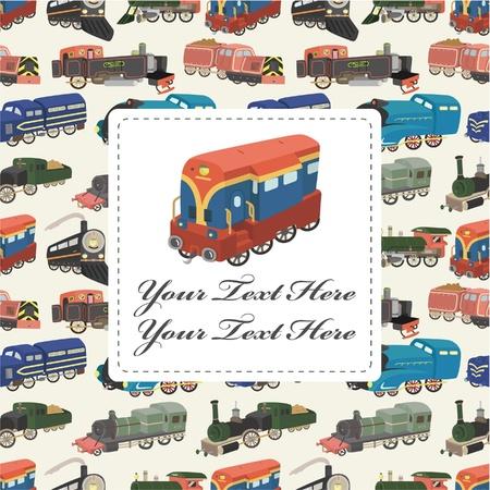 diesel train: cartoon train card