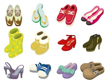 icona di scarpe di cartone animato