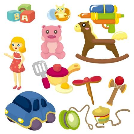 cocina caricatura: icono de juguete de beb� de dibujos animados  Vectores