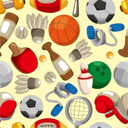 seamless sport goods pattern Stock Vector - 9337563