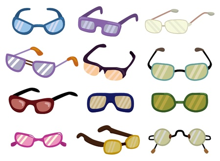 optical glass: cartoon Glasses icon
