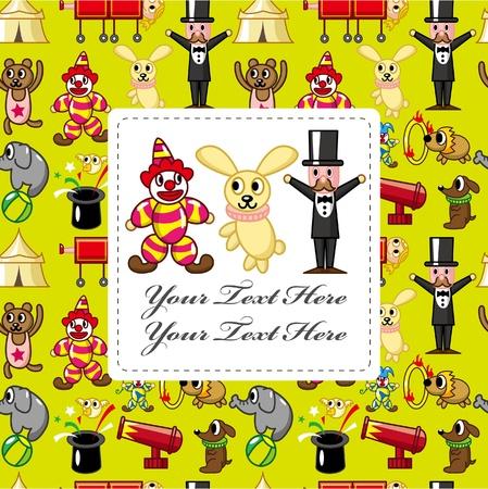 tabernacle: cartoon circus card  Illustration