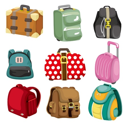 carry on bags: cartoon bag icon