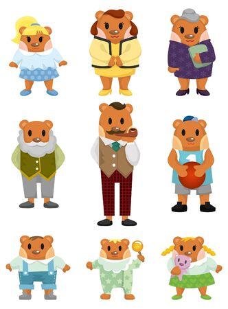 cartoon bear family icon Stock Vector - 9352214