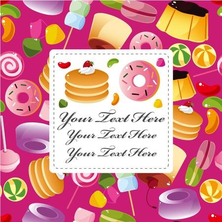 pan con mantequilla: tarjeta de caramelos de dibujos animados