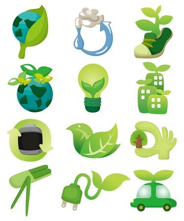 cartoon eco icon Vector