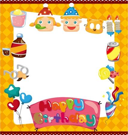 cartoon birthday card 일러스트