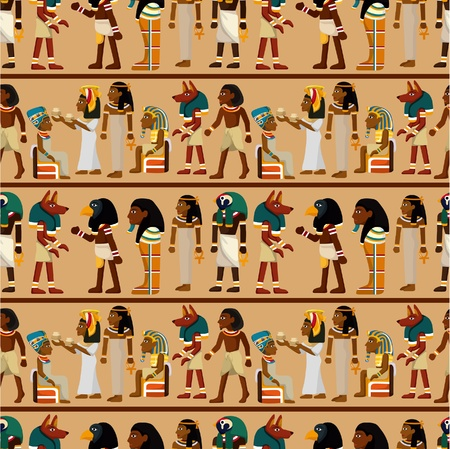 seamless pharaoh pattern Vector