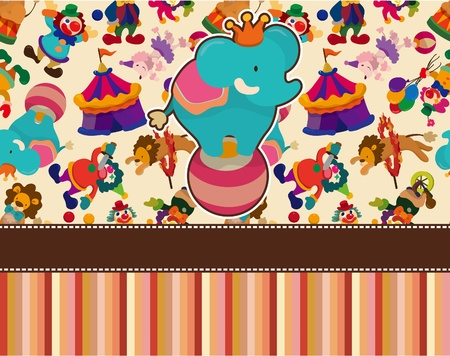 marquee tent: circus card