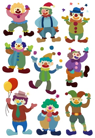 cartoon clown icon  Vector