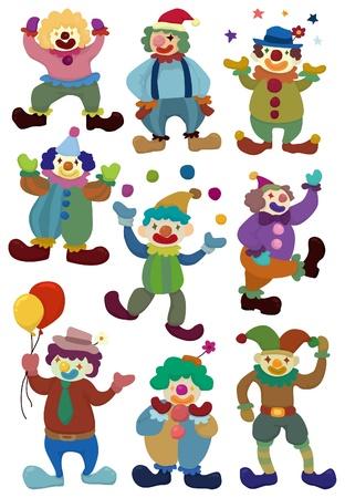 juggling: icono de payaso de dibujos animados  Vectores