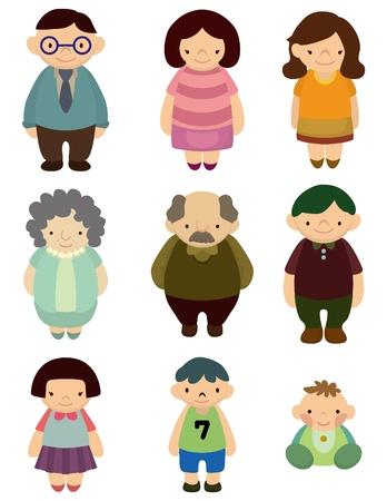 cartoon family icon Stock Vector - 9377691