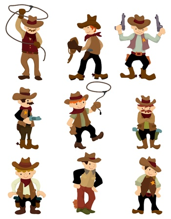 cartoon cowboy icon Stock Vector - 9377692