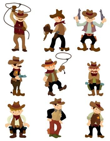 riding boot: cartoon cowboy icon  Illustration
