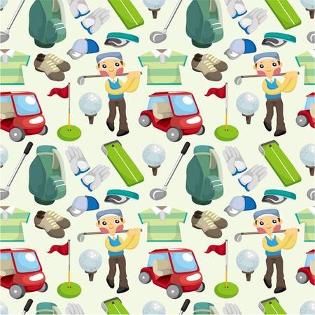 golf cart: seamless golf pattern  Illustration