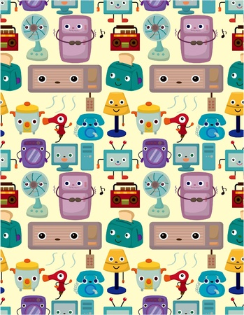 seamless Home Appliances pattern Stock Vector - 9391782