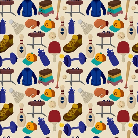 seamless Sporting Goods pattern Vector