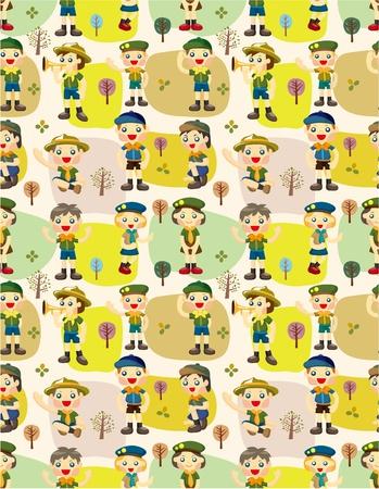 scout: seamless boygirl scout pattern