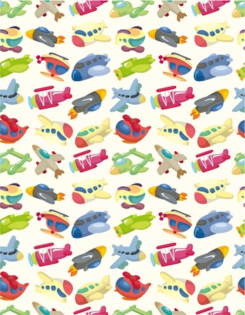 seamless airplane pattern  Illustration