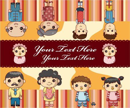 engagement cartoon: family card