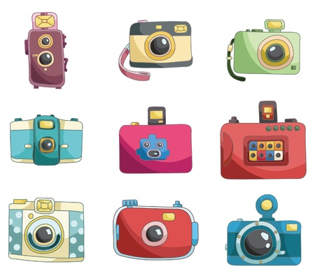 cartoon camera icon  Vector