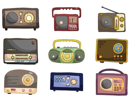 music machine: cartoon radio icon